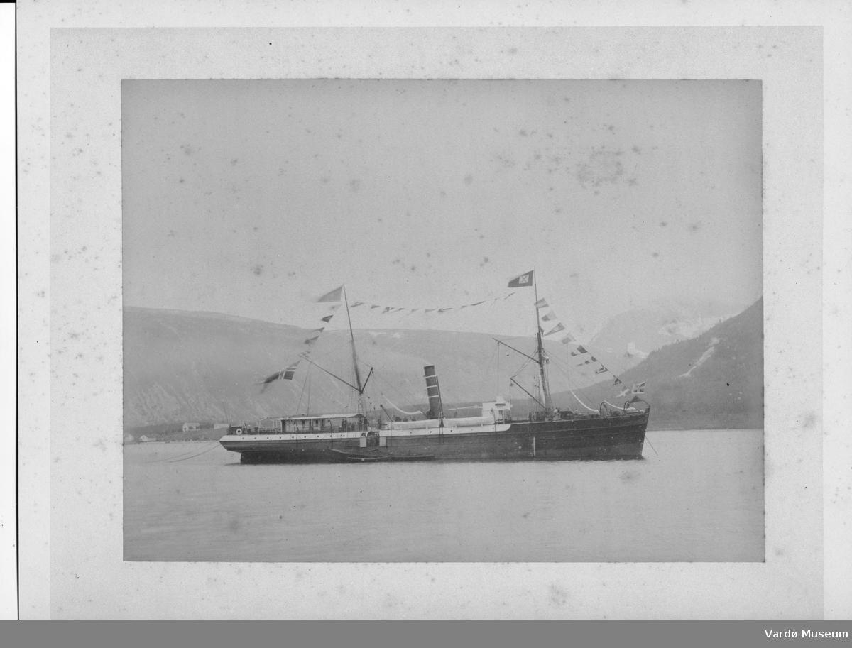 Norvège Fjord à identifier Vintage print, Philippon, Versailles. Tiragi albumi. M/S Jupiter / JPDL