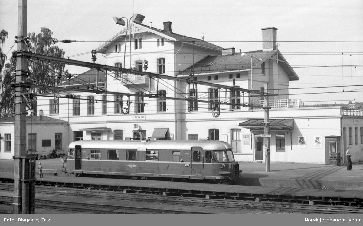 Utfluktstog for Norsk Jernbaneklubb på Eidsvoll stasjon