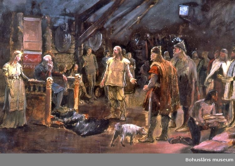 Dokumentation av verk på utställning om konstnären Nils Larson på Bohusläns museum i Uddevalla sommaren 1985