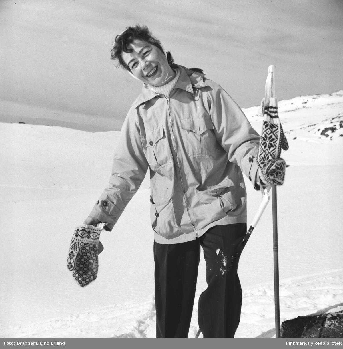 Påsketid. Jenny Drannem på skitur