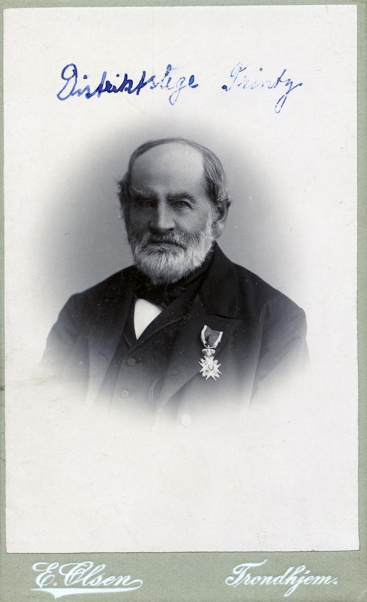 Portrett av distriktslege i Valdres, Hans Kristian Printz