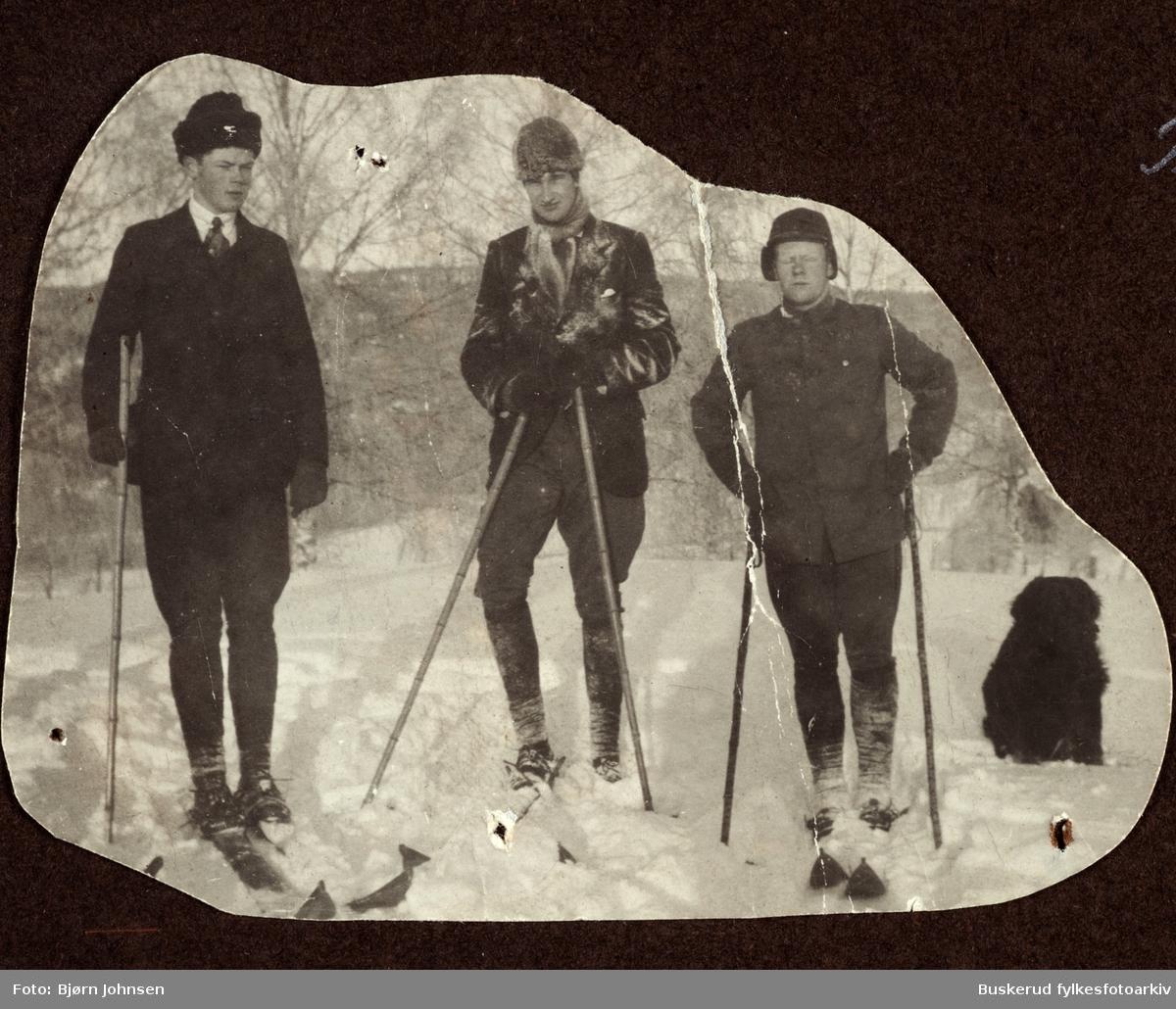 På skitur Andreas Sørsdal, Chr. Oppen og Herman Oppen