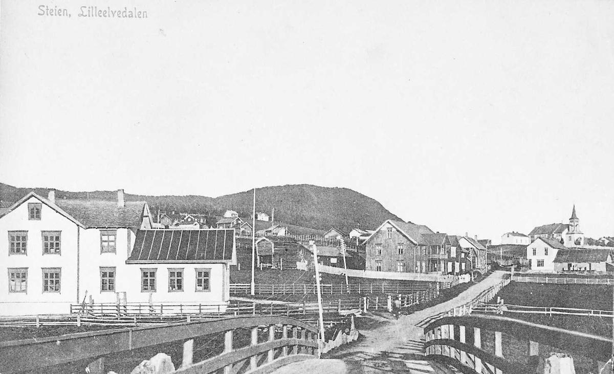 Bilde fra Alvdal, tatt mot Steia fra brua over Glåma ved Steigen gamle skole