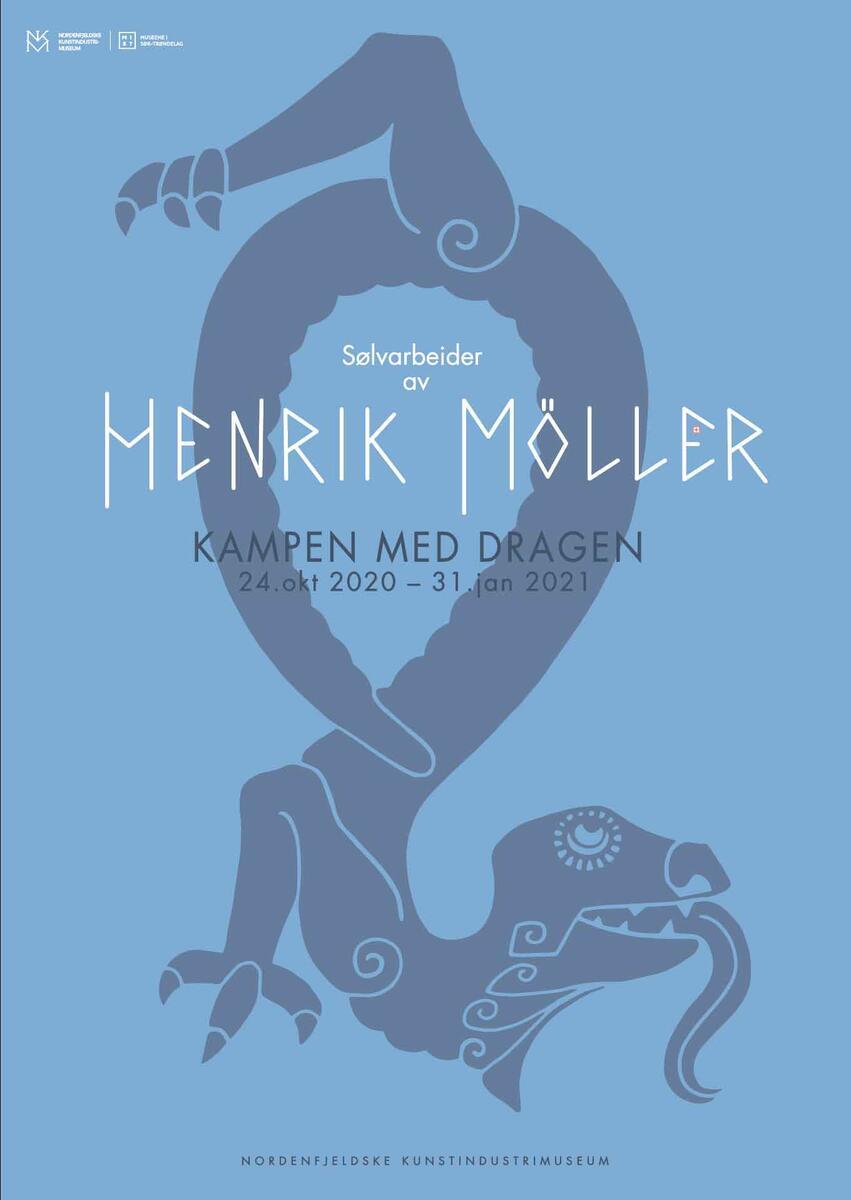 Kampen med dragen: Sølvarbeider av Henrik B. Møller (Foto/Photo)
