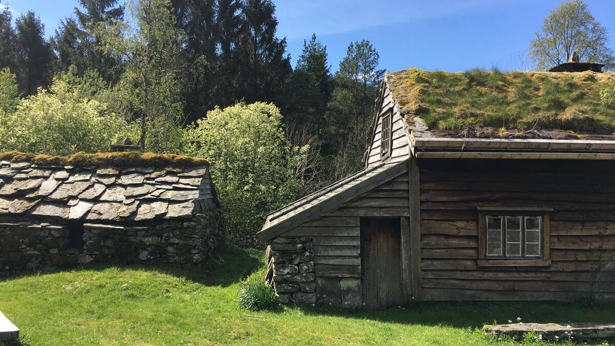 bygningar i museumstun i sollys (Foto/Photo)