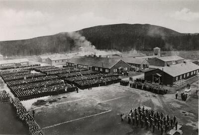 Grini fangeleir, 8. mai 1945. Foto: Fanny Wikborg/Oslo Museum (Foto/Photo)