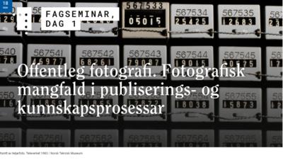 Ill. Offentleg fotografi. webinar på NB 2020. Foto/Photo