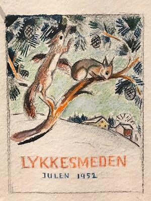 William Lunden, original tegning, Lykkesmeden liten, 16x19cm, kr 1500 Selges på vegne av familien. (Foto/Photo)