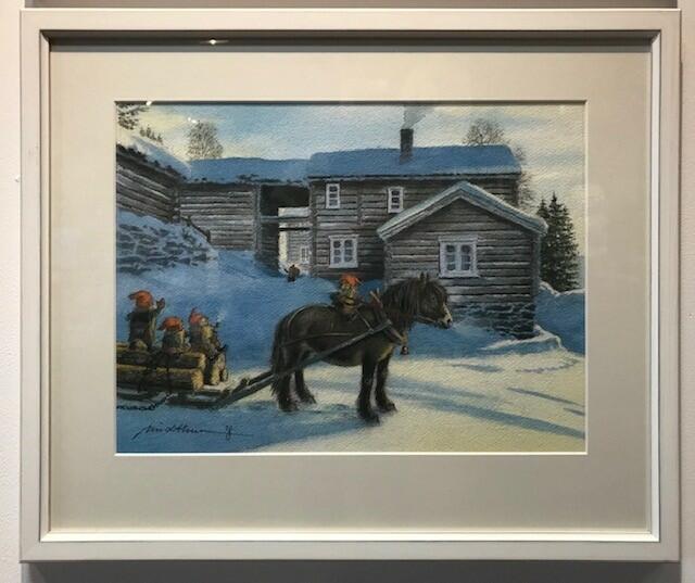 Kjell Midthun, Akvarell, kr 13000 m ramme 55x45cm (Foto/Photo)