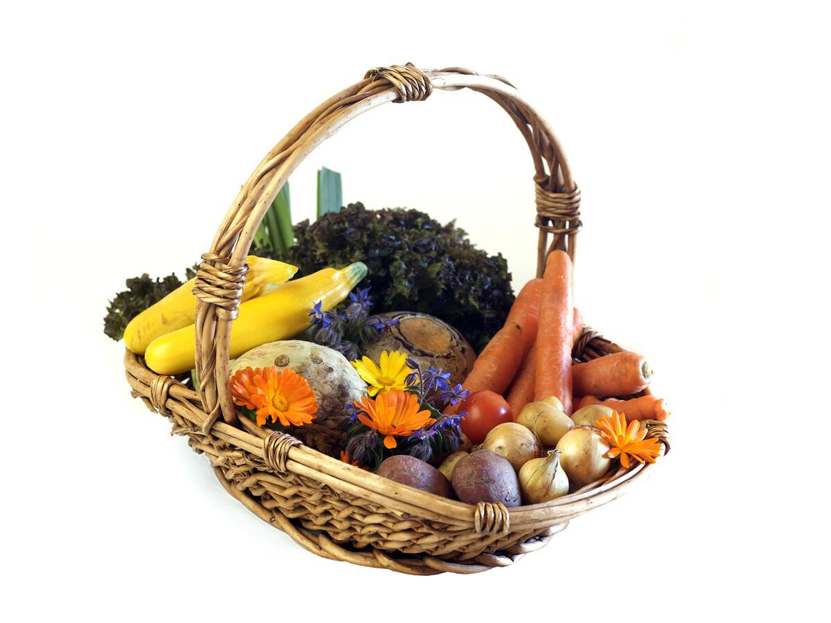 Korg med grønnsaker. Foto (Foto/Photo)