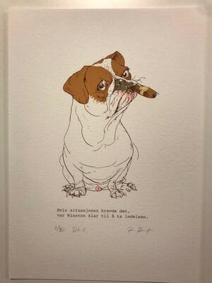 Winston.21x29,7cm DGA-trykk (Digital Graphic Art) på Hahnemühle William Turner 310 gsm. Opplag: 50 Signert og nummerert - kr 1200 (Foto/Photo)