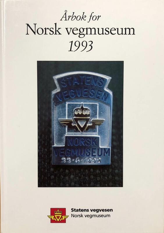 Forside: Årbok for Norsk vegmuseum 1993 (Foto/Photo)