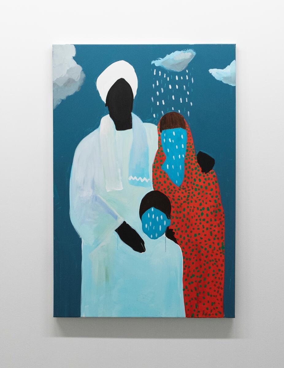 Cassius Fadlabi. Tittel: Familieportrett (2020).  Medium: akryl på lerret.  Størrelse:  150 x 100 cm. (Foto/Photo)