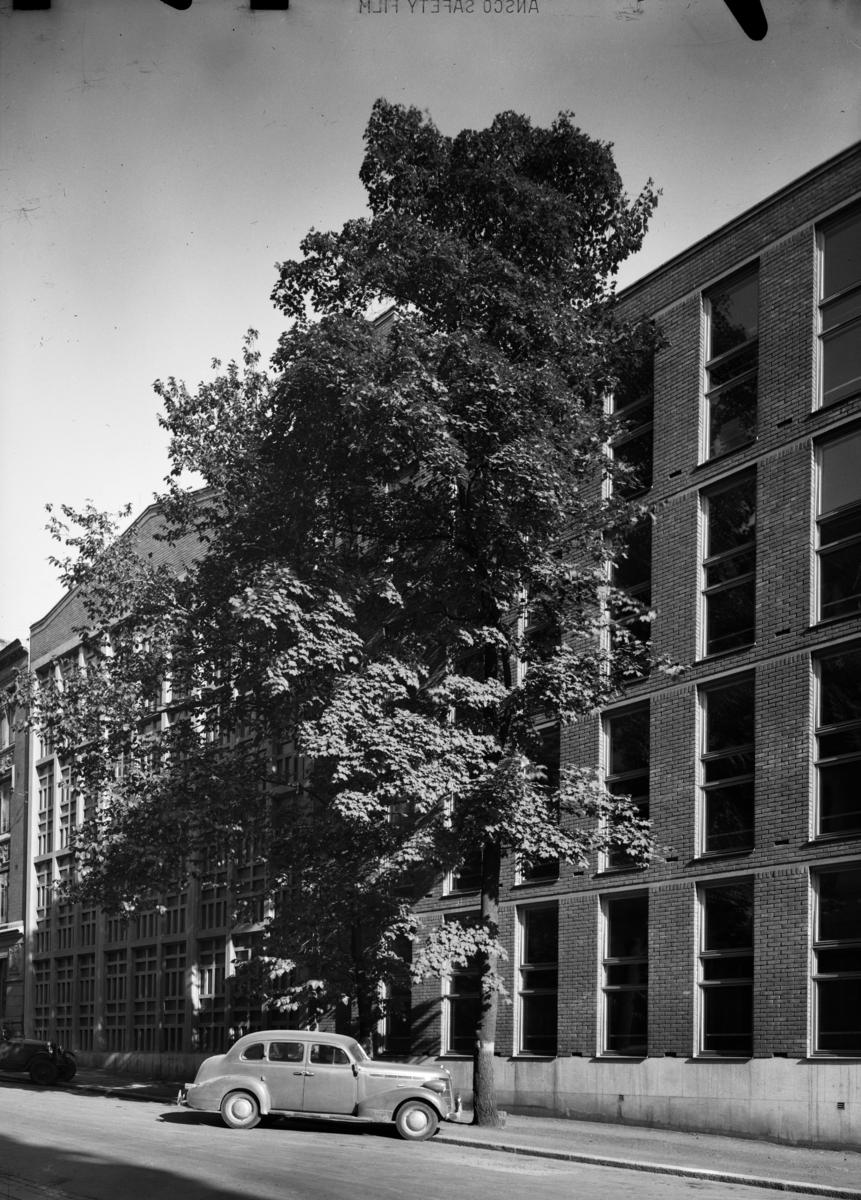 Oslo Handelsgymnasium.ark. Blakstad & Munthe-Kaas, se også Sigurd Winge