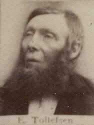 Hytteknekt Elias Tollefsen (1825-1897) (Foto/Photo)