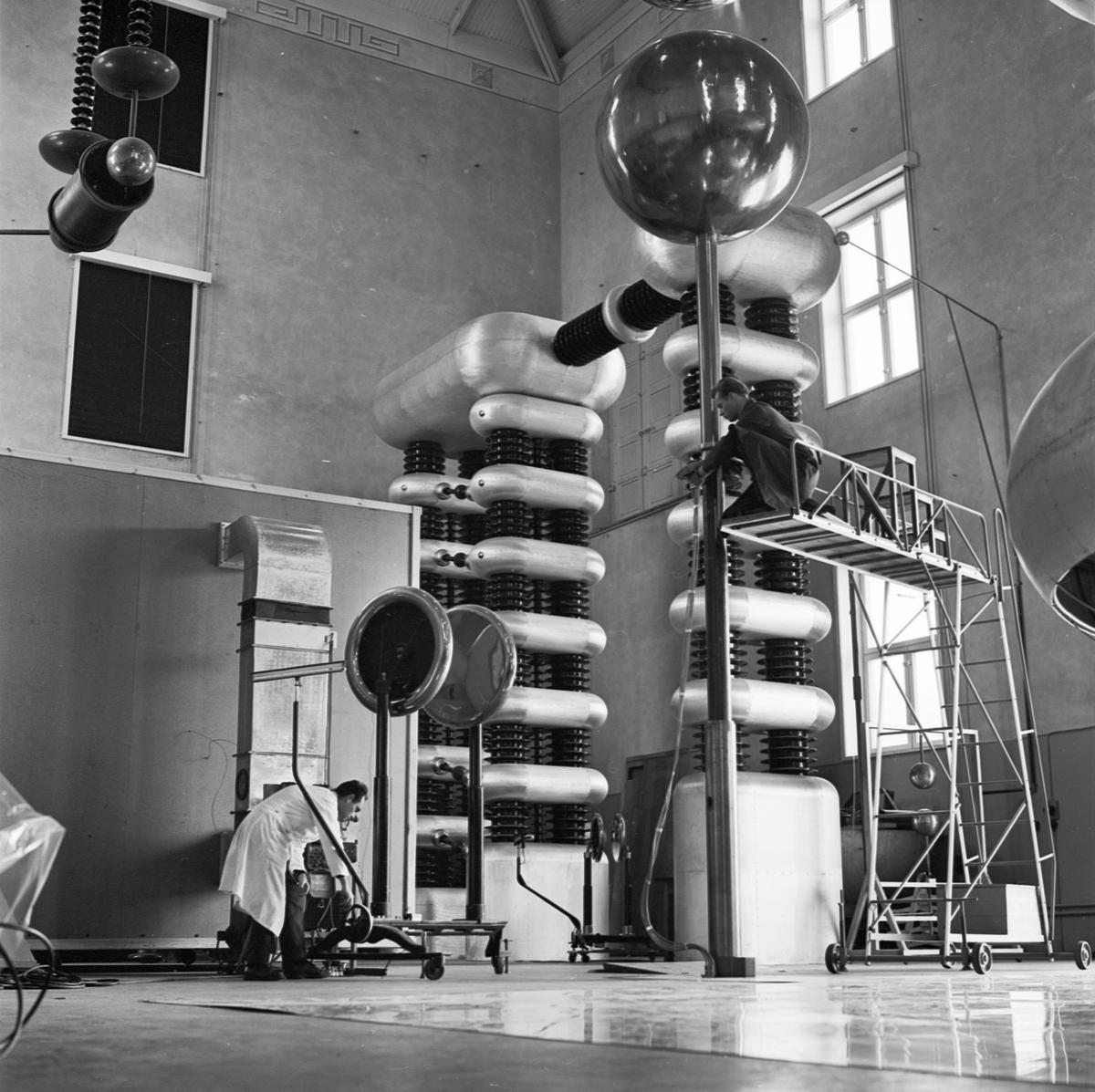 Högspänningslaboratoriet, ingenjör Oskars Salka, Uppsala 1963