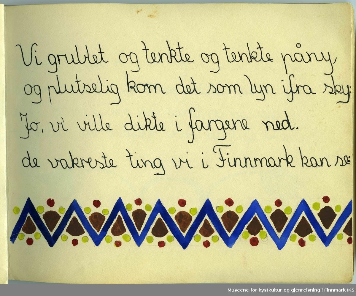 Barnene har ofte brukt fiskeren som innhenter garn, samer og lokal kjente bygg og landmerker fra Hammerfest som motiv.