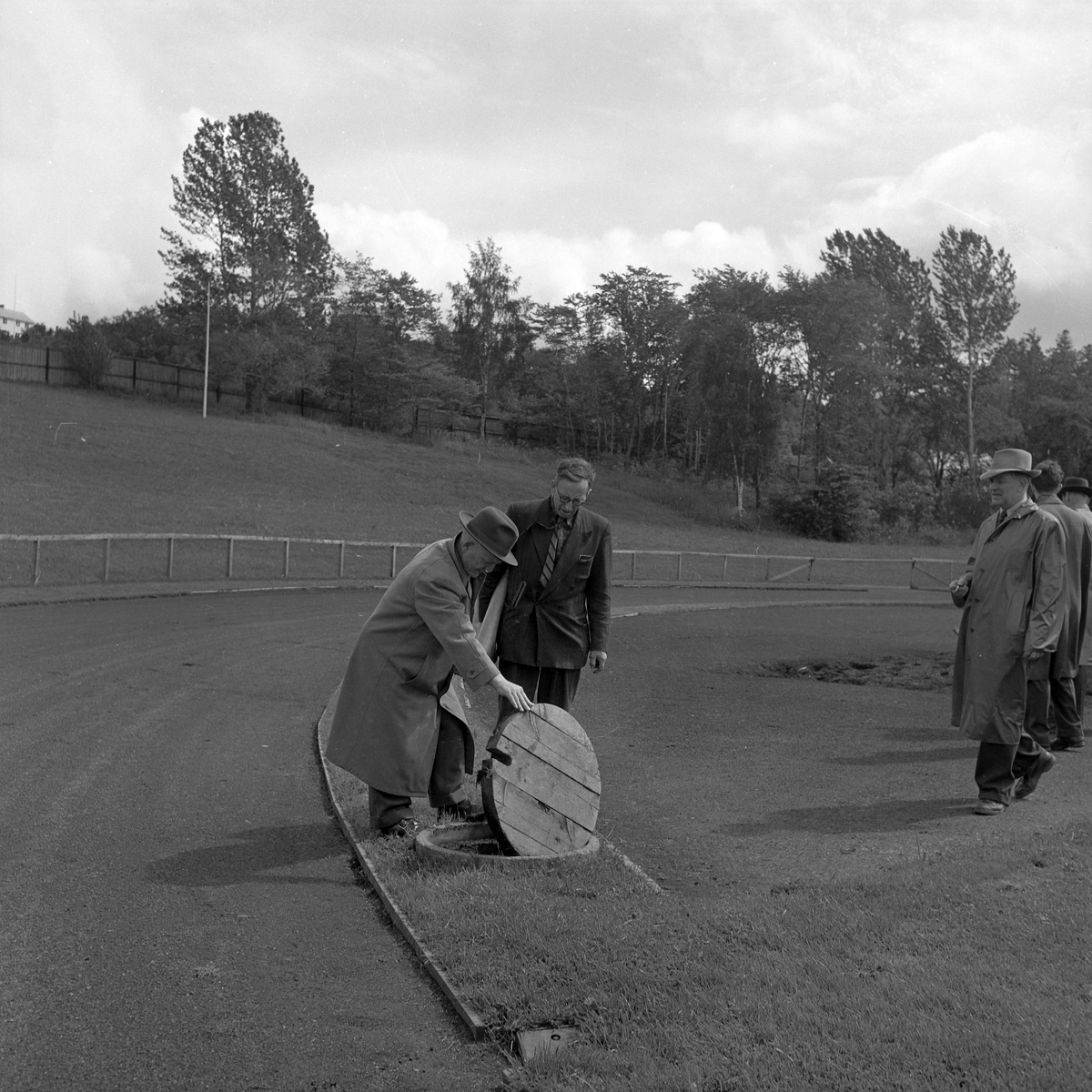Befaring på Lerkendal stadion angående tilrettelegging for Speedway