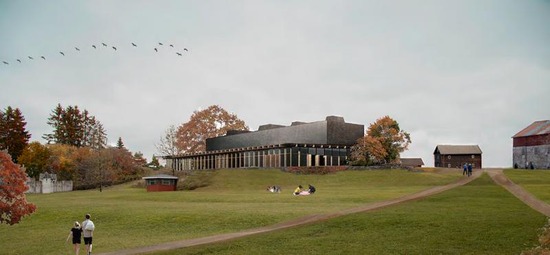 En illustrasjon hentet fra et av forslagene som kom inn i arkitektkonkurransen om nytt museumsbygg ved Anno Domkirkeodden. (Foto/Photo)