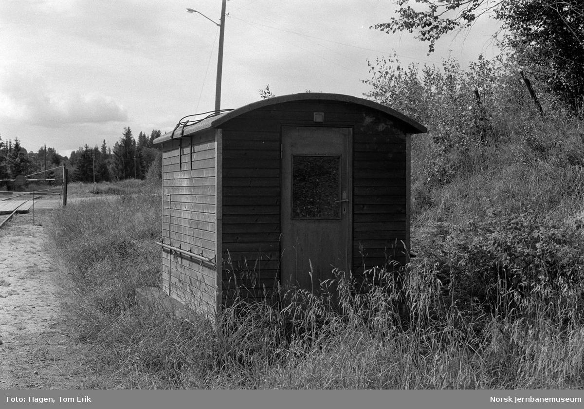 Hvilebrakke langs Skreiabanen mellom Bøverbru og Lena