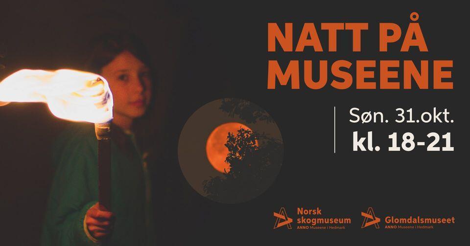 Banner for Natt på museene Norsk kogmuseum og Glomdalsmuseet (Foto/Photo)