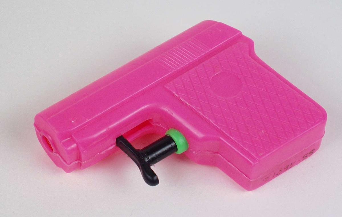 Vannpistol i rosa plast.