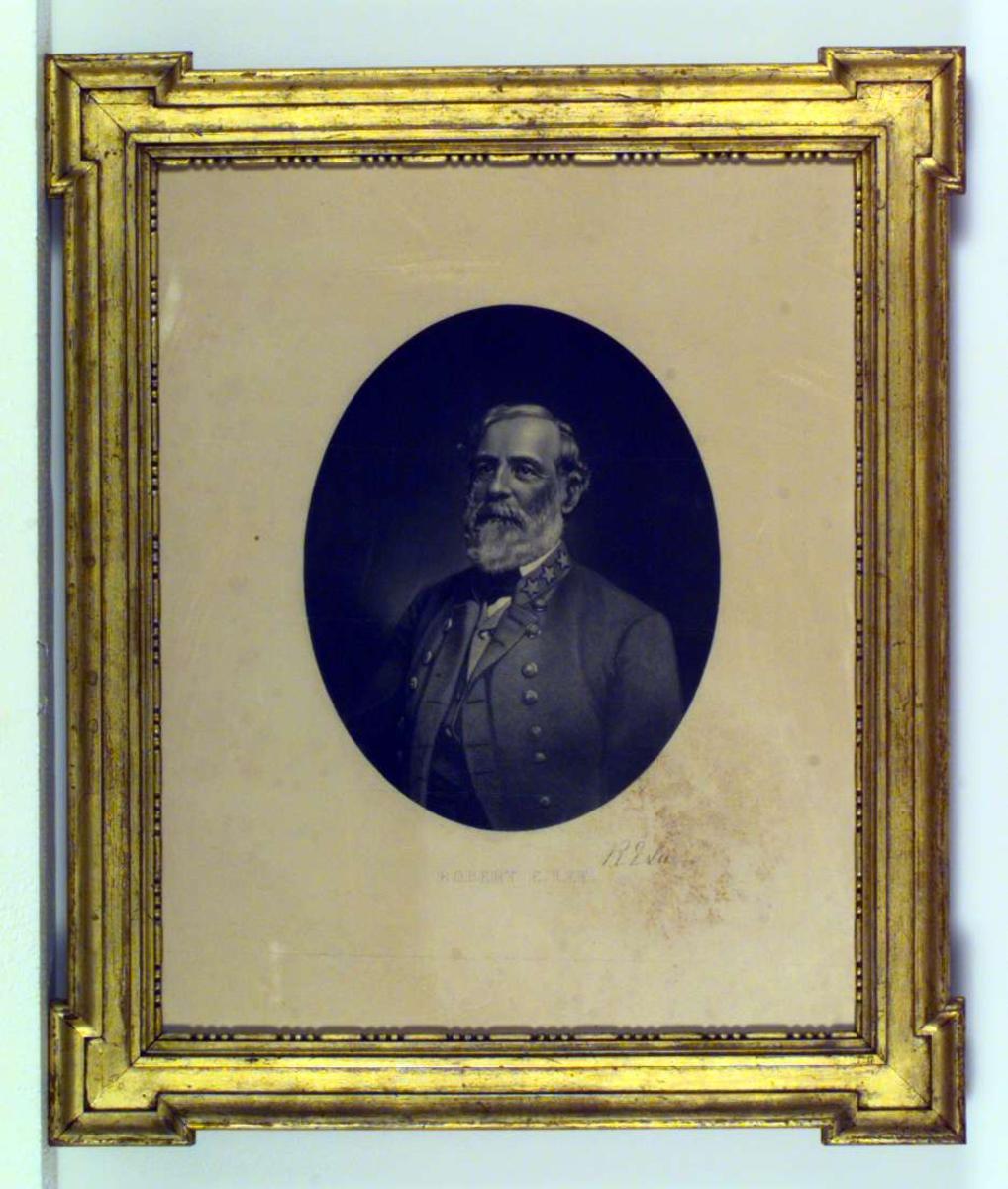 Portrett av den amerikanske offiser og sørstatsmann Robert E. Lee.