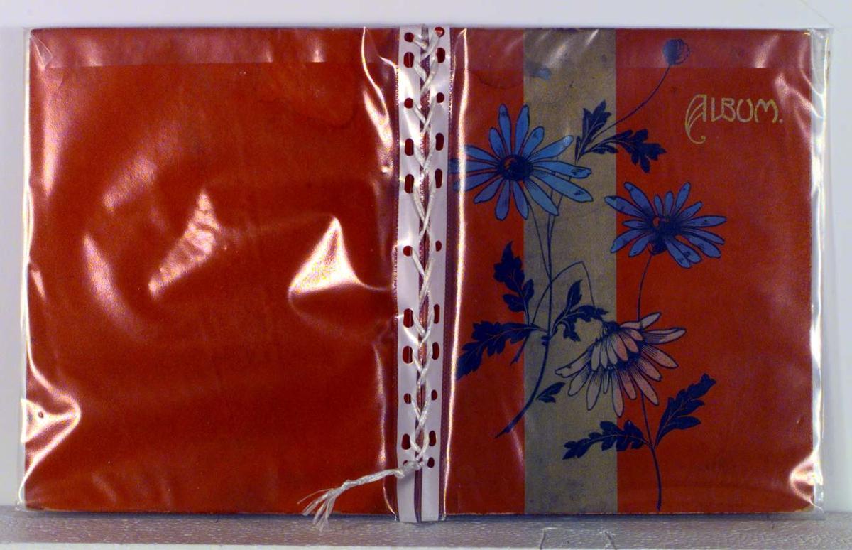 Albumet har blomsterdekor på permen.