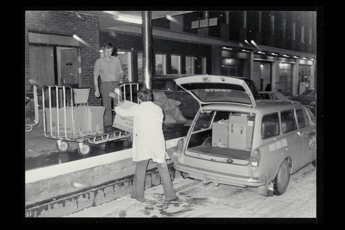 eksteriør, postkontor, 9400 Harstad, postmann, kunde, rampe