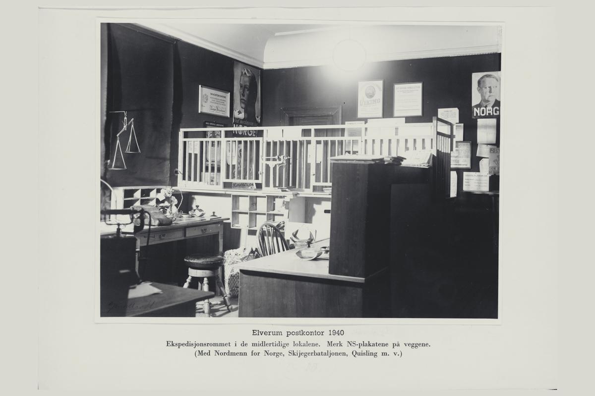 interiør, postkontor, 2400 Elverum, budavdelingen, pakningsrom