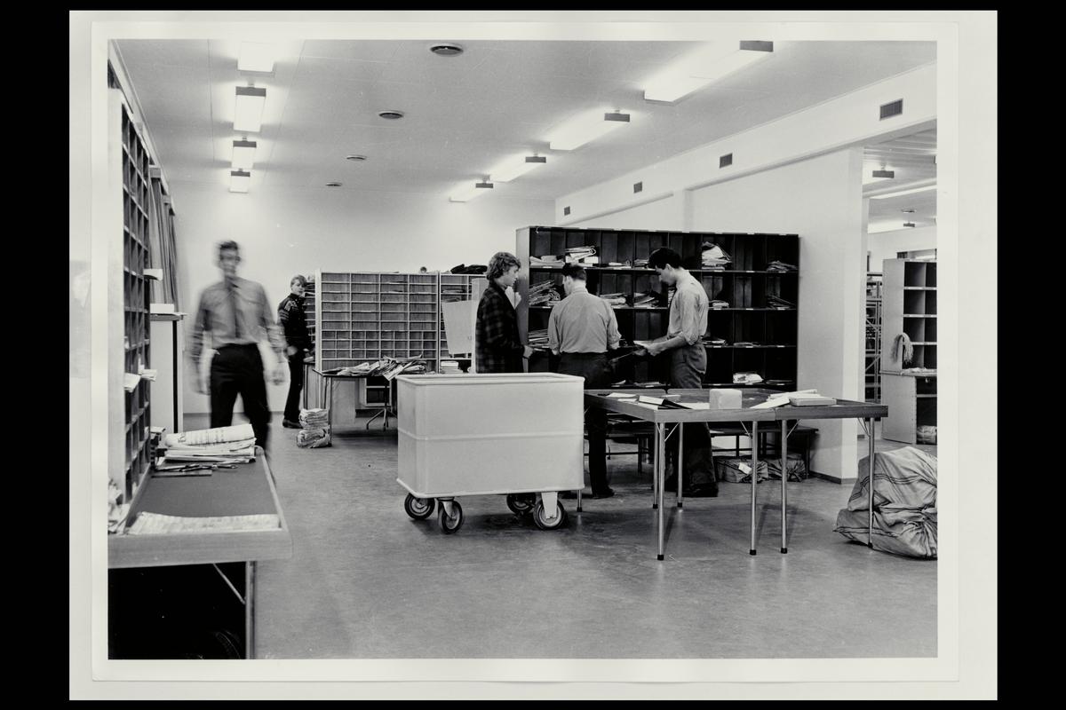 interiør, postkontor, 9400 Harstad, sortering, personal, bud