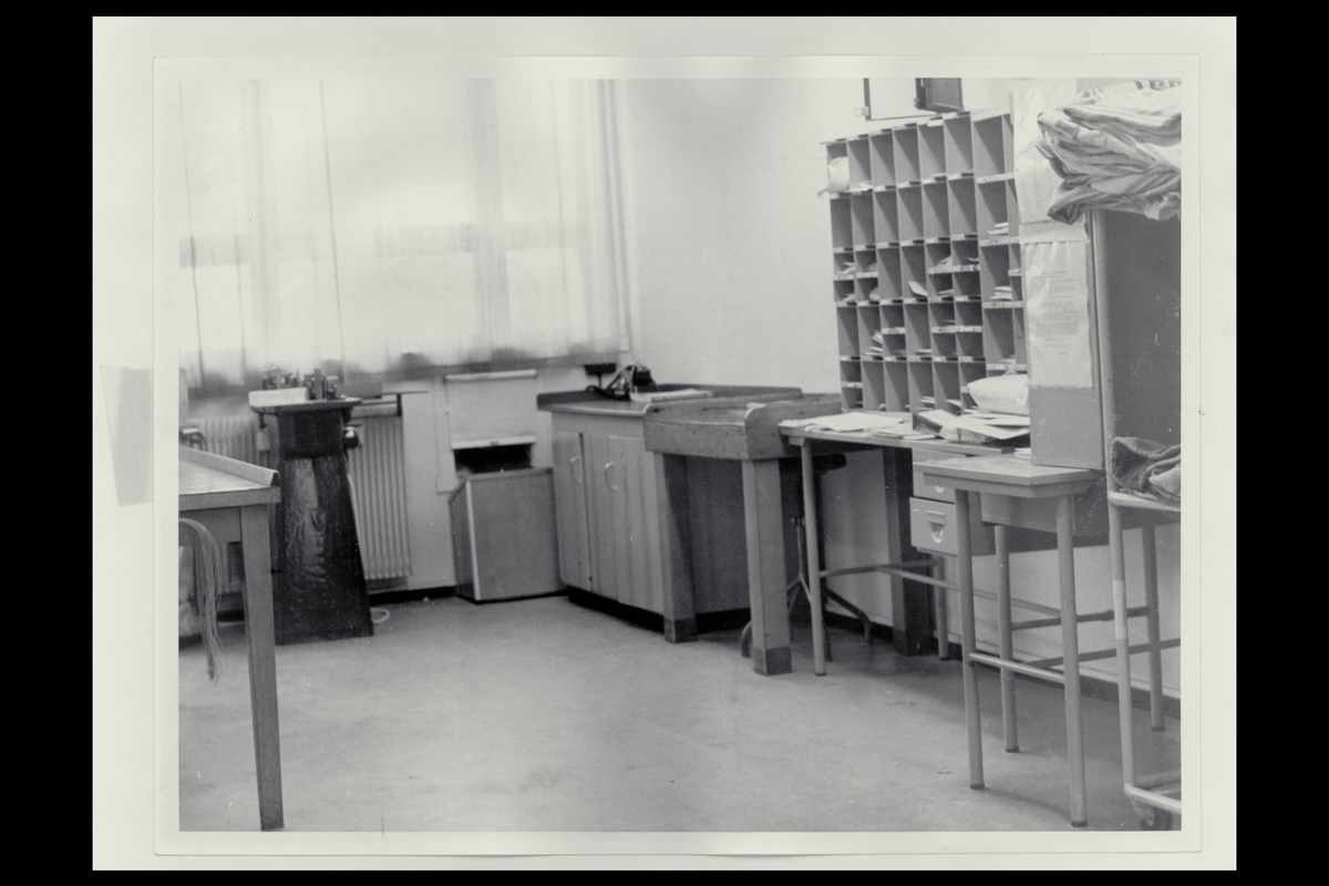 interiør, postkontor, 9750 Honningsvåg, sortering, brevavdeling