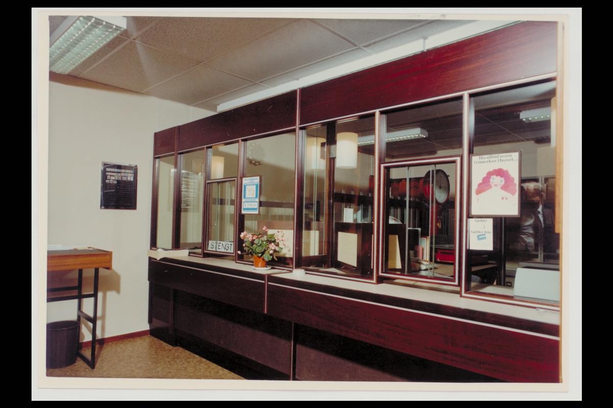 interiør, postkontor, 3900 Borgåsen, publikumshall