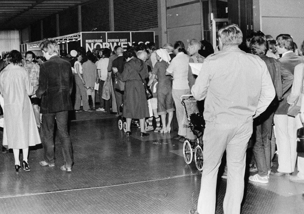utstilling, Norwex 80, kø utenfor