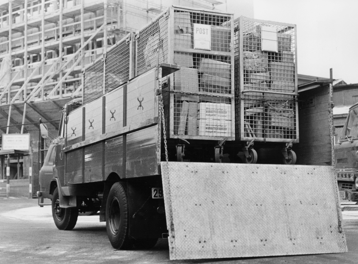 transport, bil, lastebil, containere