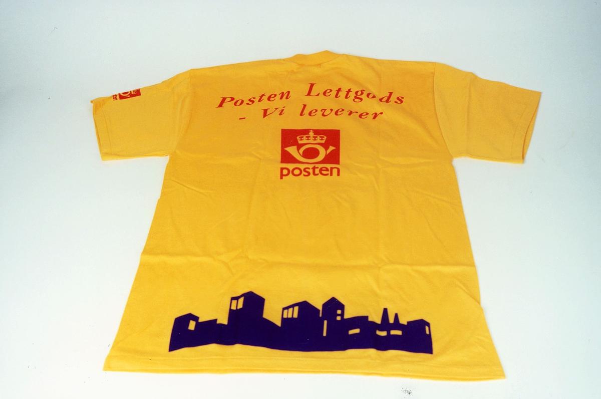 Postmuseet, gjenstander, profilklær, T-skjorte, reklameartikkel fra Posten Lettgods.