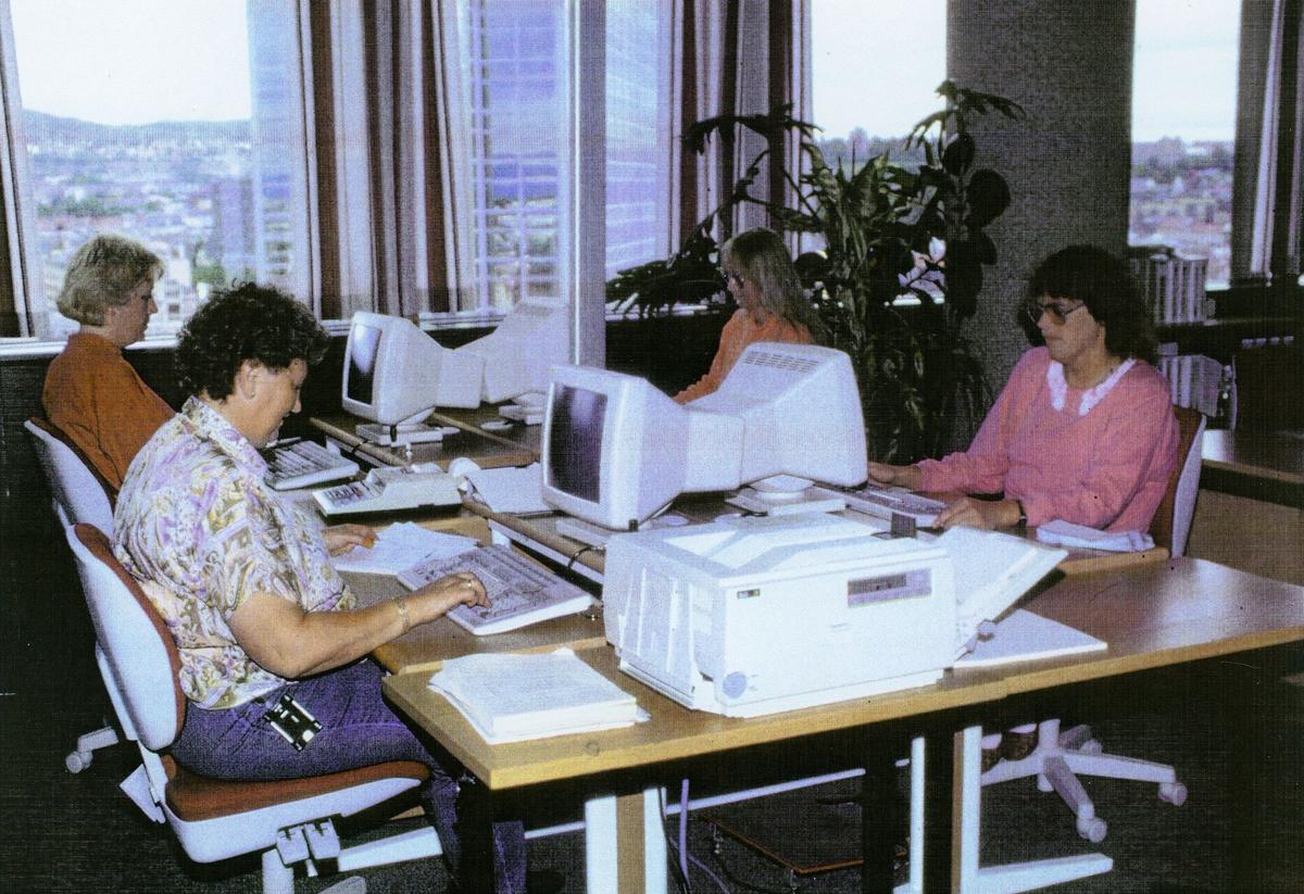 postgirokontoret, Biskop Gunnerus gate 14, bokholderiet, 1990
