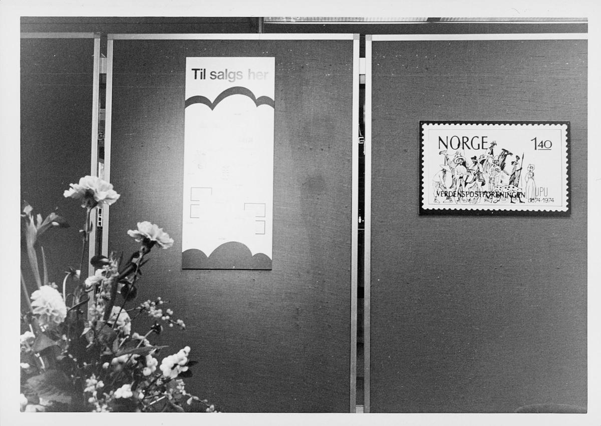 markedsseksjonen, verdenspostforeningen 100 år, filateli, utstilling
