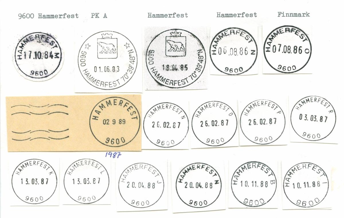 Stempelkatalog 9600 Hammerfest, Finnmark