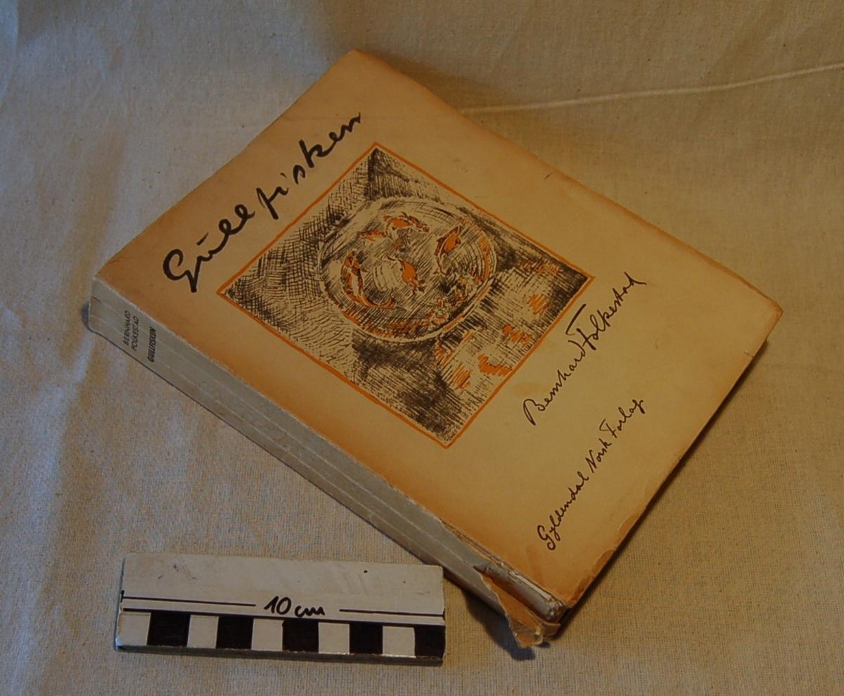 På bokens forside et motiv med en glassbolle med gullfisk