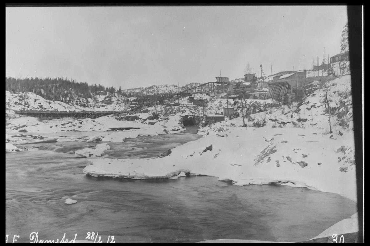 Arendal Fossekompani i begynnelsen av 1900-tallet CD merket 0565, Bilde: 21 Sted: Haugsjå Beskrivelse: Damområdet