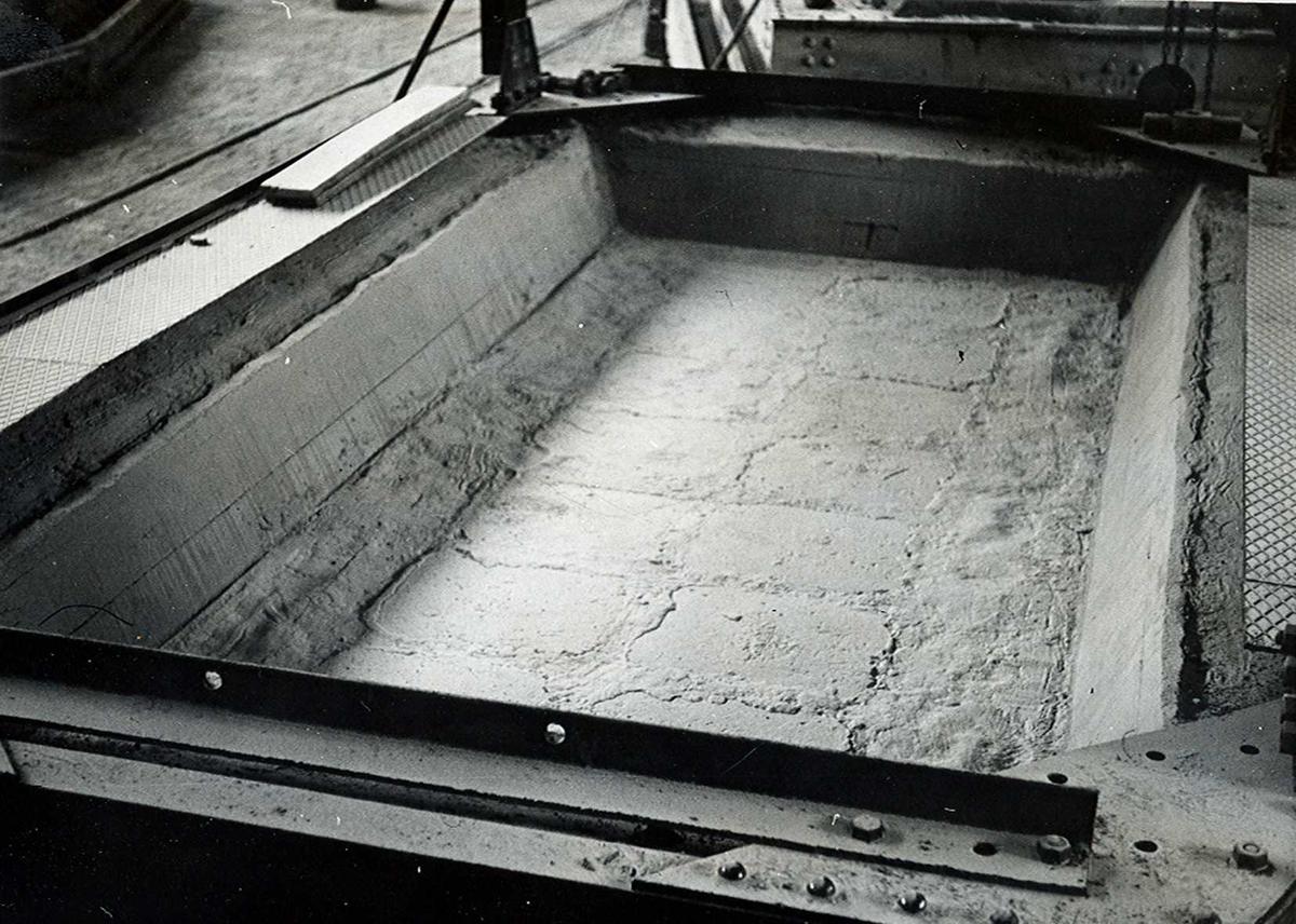 Nitriden. Grop for smelteovn for aluminium.