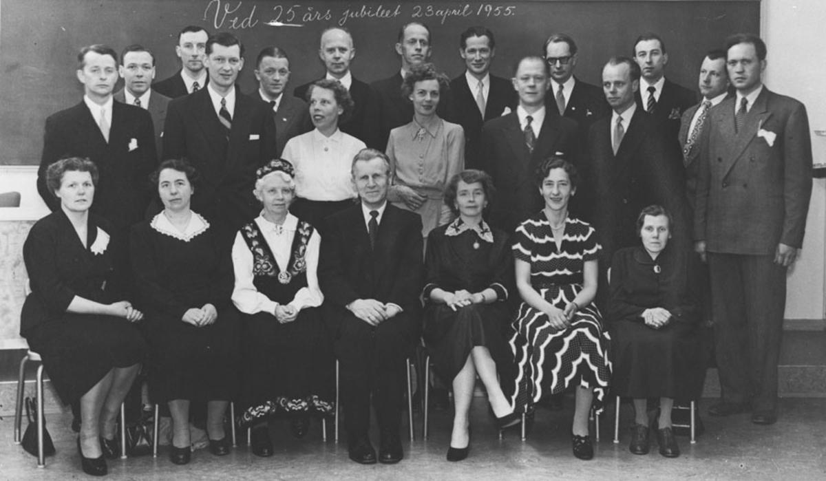 25 års jubilanter i 1955.