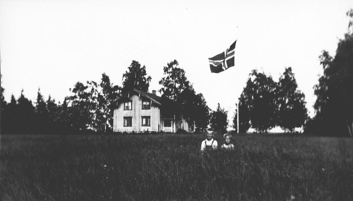 Barn i eng. Flaggdag.