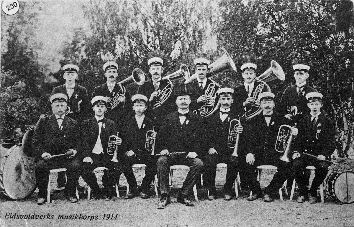 Eidsvoldverks/Eidsvoll Verk musikkorps 1914.