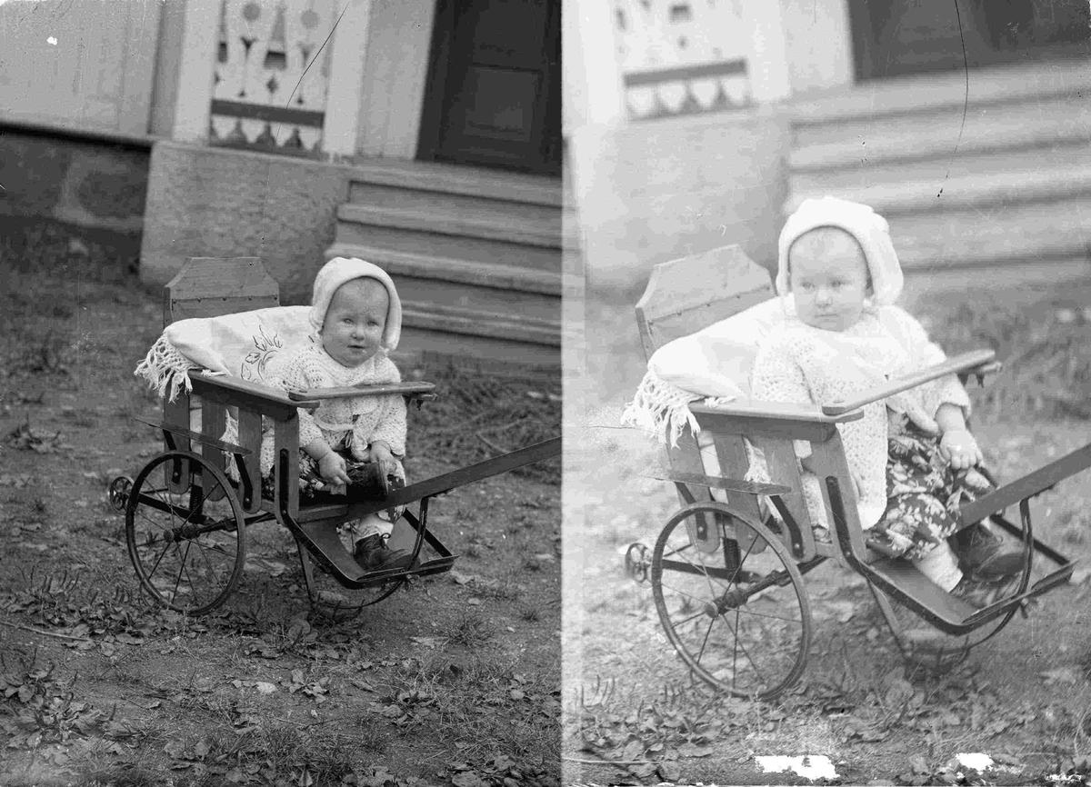 Lite barn i vogn