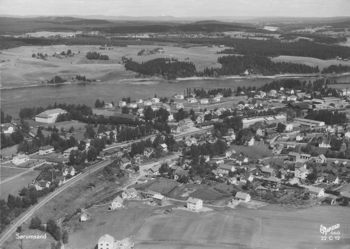 Flyfoto fra Sørumsand.