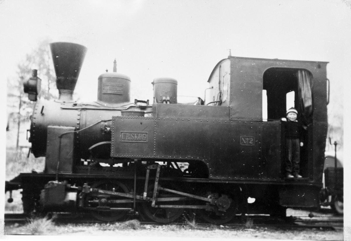 Lok nr 2 Urskog før avreise til Jernbanemuseet.