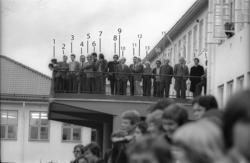 Molde folkeskole øvre vei 23 brenner høsten 1977..(Bilder fr