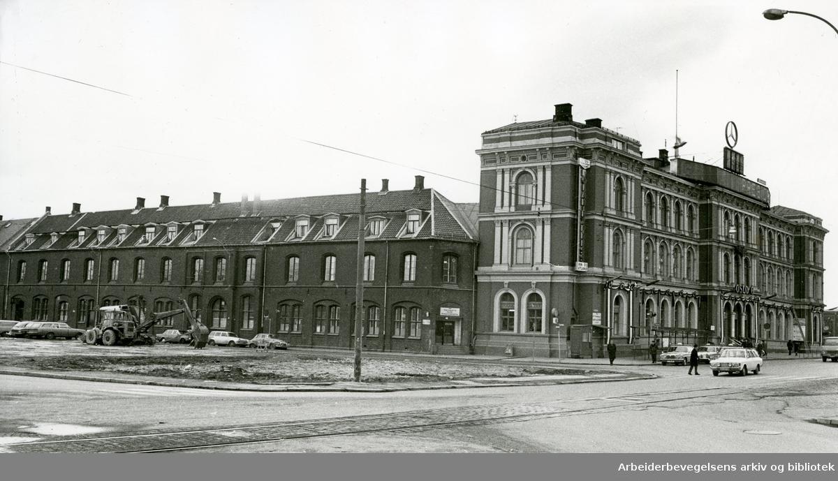 Østbanen etter Vaterlandsaneringen,.ca. 1965